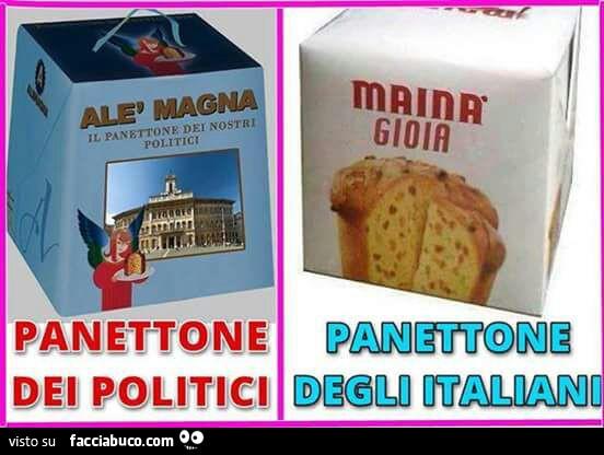Panettone dei politici panettone degli italiani for Gruppi politici italiani