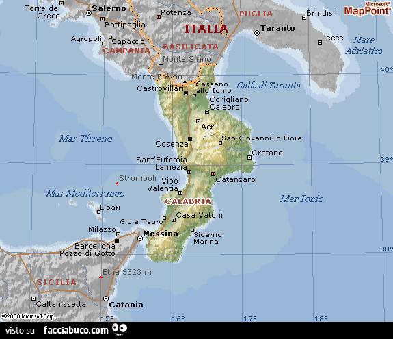 Cartina Calabria E Basilicata.Cartina Calabria Facciabuco Com